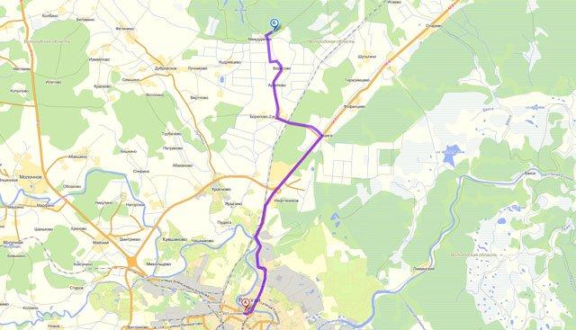Схема маршрута до Оларевской гряды